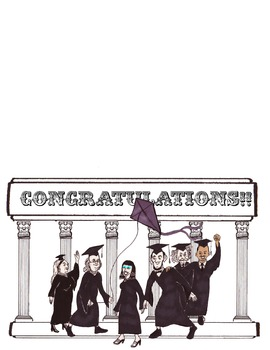 Historical Themed Graduation Card