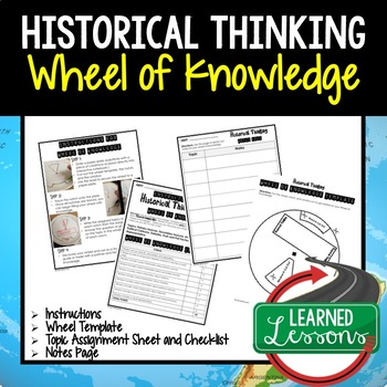 Historical Thinking Activity, Wheel of Knowledge (Interactive Notebook)