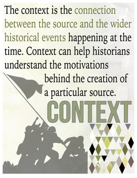 Historical Thinking Posters for Social Studies Primary and Secondary Sources