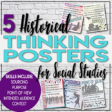 Historical Thinking Posters for Social Studies Primary and