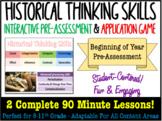 NEW! Historical Thinking & Reasoning Skills Pre-Assessment