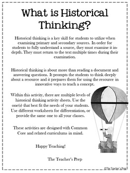 Historical Thinking Skills Activities