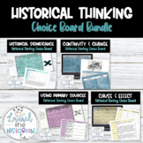 Historical Thinking Skills Choice Boards End of Year [Editable]