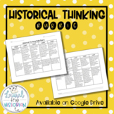 Historical Thinking Skills Rubric for Inquiry & PBL C3