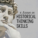 Historical Thinking Skills - lesson + worksheet