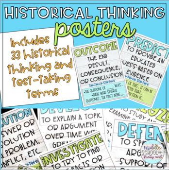 Historical Thinking & Test Taking Terms Posters