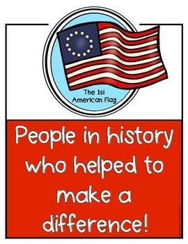 Historical USA Government Figures Poster Set for Kindergarten & First