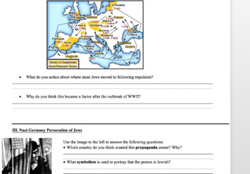 Worksheet & PPT: Historical and Nazi Persecution of the Jews