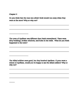 Historical fiction literacy study guide (covers WWII)