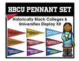 Historically Black College and University HBCU Display Pennant Set