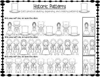 Historically Sweet Patterns (creating, labeling, & expanding February patterns)