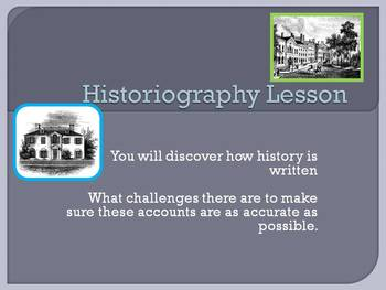 Historiography Lesson