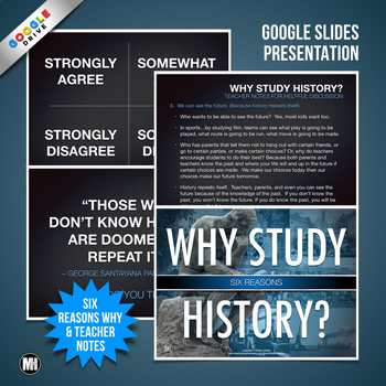 WHY STUDY HISTORY?  First Day of School or Back to School Activity & Discussion