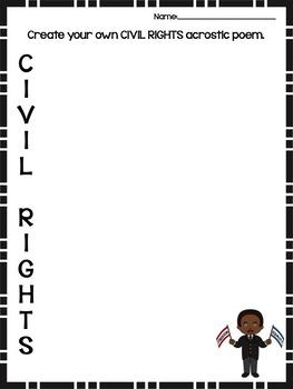 Civil Rights Acrostic Poem