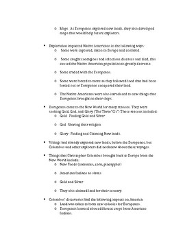 History Alive 5th Grade- Chapters 4 and 5 Study Guide
