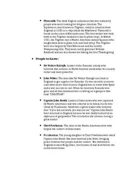 History Alive 5th Grade- Chapters 6 Study Guide