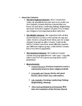 History Alive 5th Grade- Chapters 7 Study Guide