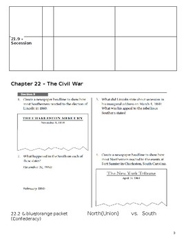 History Alive America Through Industrialism Ch 21-23 Civil War & Reconstruction