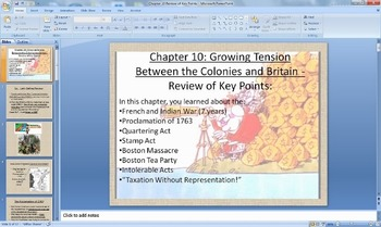 History Alive! America's Past - Ch. 10 Growing Tensions