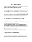 History Alive! Bill of Rights Worksheet