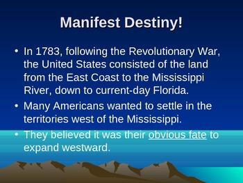 History Alive - Chapter 16 - Manifest Destiny