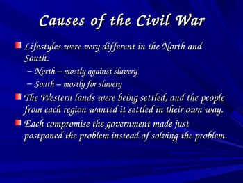 History Alive - Chapter 18 - Causes of the Civil War