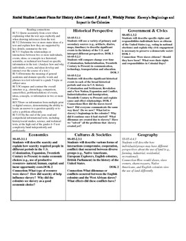 History Alive Chapter 8 & 9 Lesson Plan Companion