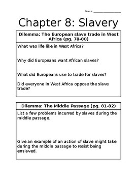 History Alive: Chapter 8 Questions
