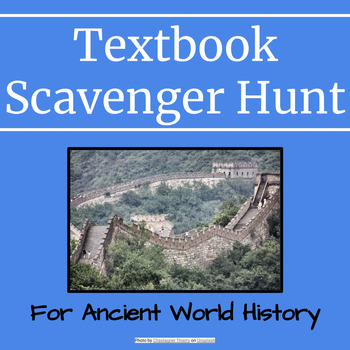 Textbook Scavenger Hunt History Worksheets & Teaching