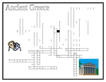 ancient greece crossword teaching resources teachers pay teachers
