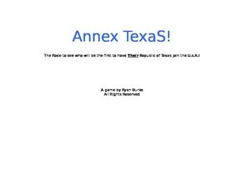 History: Annex Texas Game