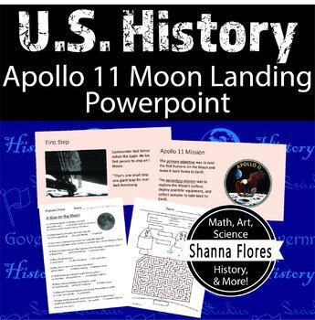 History: Apollo 11 Moon Landing PowerPoint Presentation 5 Worksheets