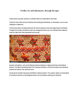 History + Art Project: Creating repeating-pattern textile art