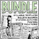History Back to School Bundle (Syllabus Templates, Decor, Stations & More!)