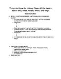 History Basics Guided Notes