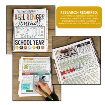 History Bell Ringer Journal for the Entire School Year: 275 Journal Prompts