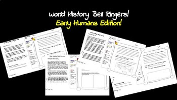 History Bell Ringers: Early Humans : Free this week only-please rate!