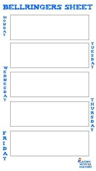 History Bellringer Weekly Fill-In Sheet