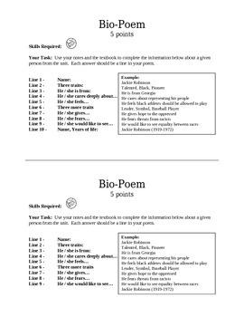 History Bio-Poem
