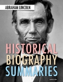 Abraham Lincoln: American History Webquest Activity (PDF & Google Drive)