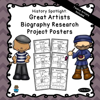 History Biography Research Poster Projects | 12 Great Artists