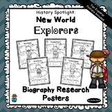 Biography Research Project Posters | 10 New World Explorers