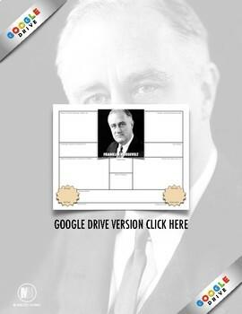 "History Biography Summary: Franklin Delano Roosevelt ""FDR"" Webquest Activity"