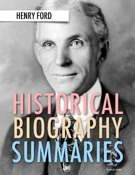 History Biography Summary: Henry Ford Webquest (PDF & Google Drive)