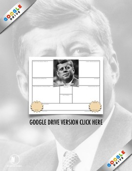"History Biography Summary: John F. Kennedy ""JFK"" Webquest Activity"