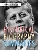 John F. Kennedy: History, Biography Webquest Activity on JFK