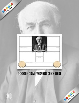 History Biography Summary: Thomas Edison Webquest (PDF & Google Drive)