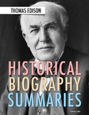 History Biography Summary: Thomas Edison Webquest (PDF & G