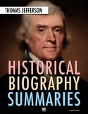 History Biography Summary: Thomas Jefferson Webquest (PDF