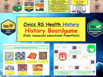 History Boardgames Lesson - Can be used for any topic (This version WW1)